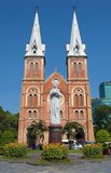 Saigon Notre-Dame Basilica, officially Basilica of Our Lady of The Immaculate Conception is a cathedral located in Ho Chi Minh City (Saigon). Established by French colonists, the cathedral was constructed between 1863 and 1880. It has two bell towers, reaching a height of 58 meters (190 feet).<br/><br/>  Former Emperor Bảo Đại made Saigon the capital of the State of Vietnam in 1949 with himself as head of state. After the Việt Minh gained control of North Vietnam in 1954, it became common to refer to the Saigon government as 'South Vietnam'.<br/><br/>  The government was renamed the Republic of Vietnam when Bảo Đại was deposed by his Prime Minister Ngo Dinh Diem in a fraudulent referendum in 1955. Saigon and Cholon, an adjacent city with many Sino-Vietnamese residents, were combined into an administrative unit called Đô Thành Sài Gòn (Capital City Saigon).